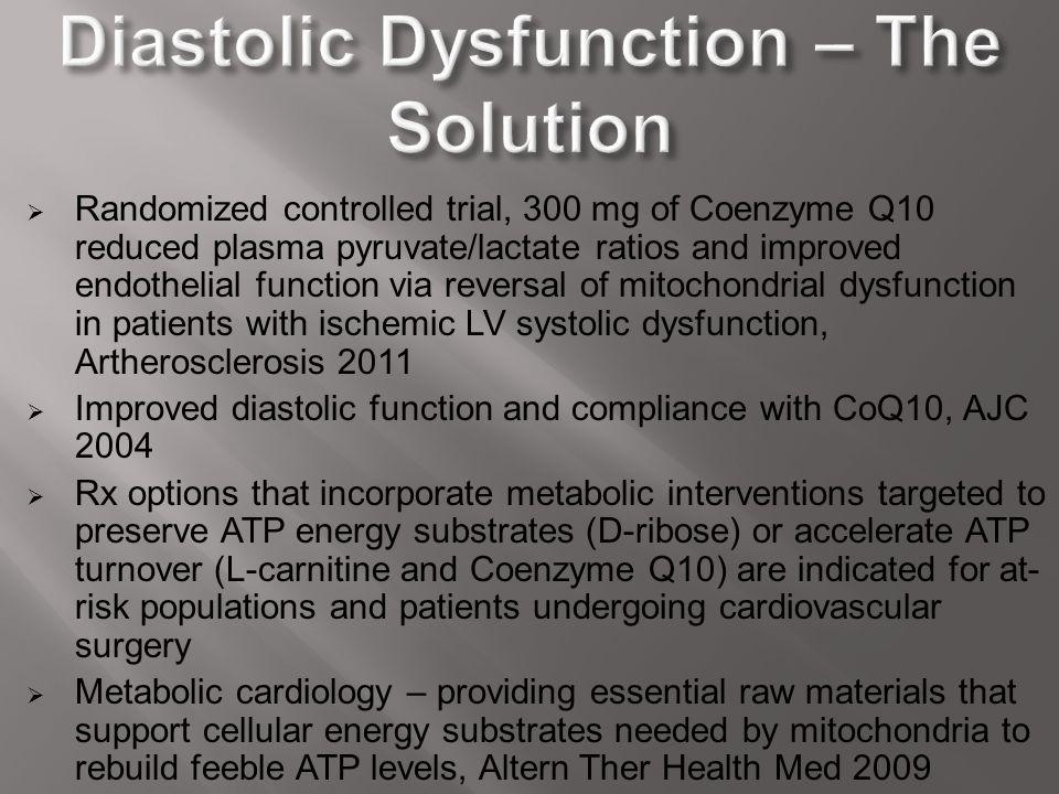 Diastolic Dysfunction – The Solution
