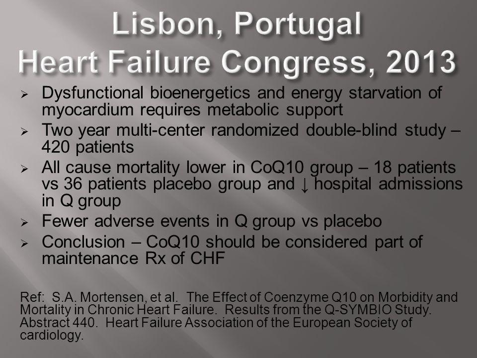 Lisbon, Portugal Heart Failure Congress, 2013
