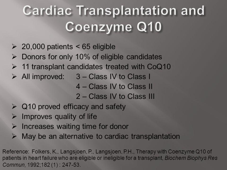 Cardiac Transplantation and Coenzyme Q10