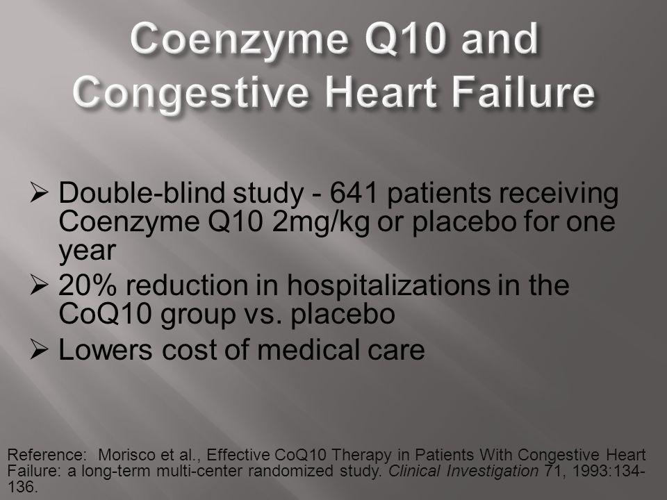 Coenzyme Q10 and Congestive Heart Failure