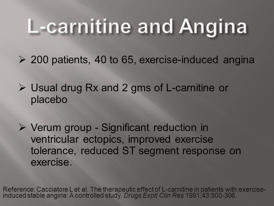L-carnitine and Angina