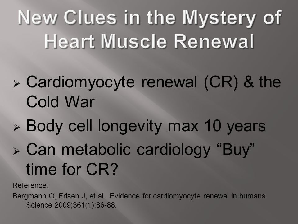 New Clues in the Mystery of Heart Muscle Renewal