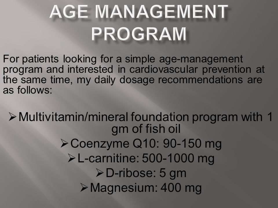 Age Management Program
