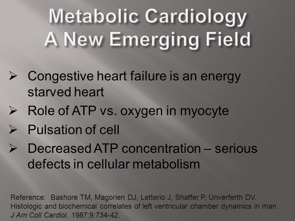 Metabolic Cardiology A New Emerging Field