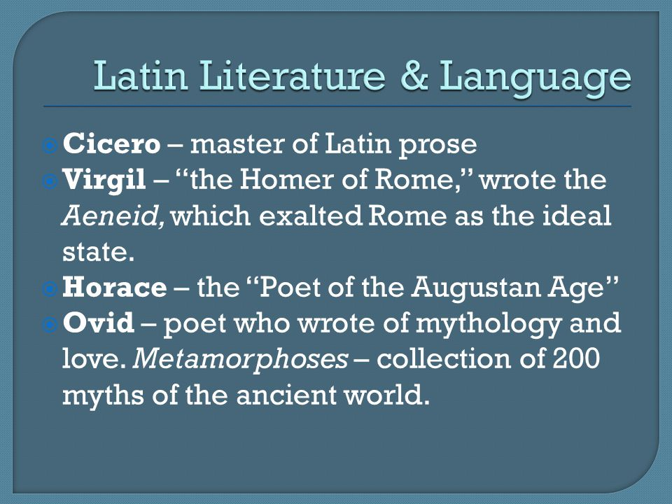 Latin Literature & Language