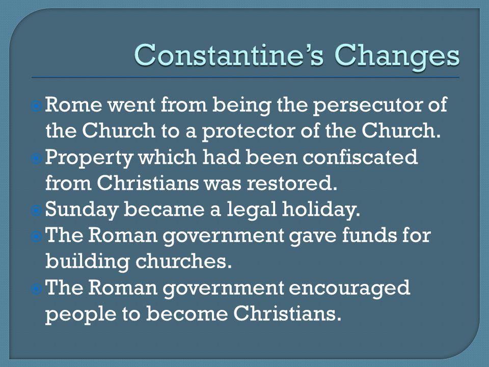 Constantine's Changes