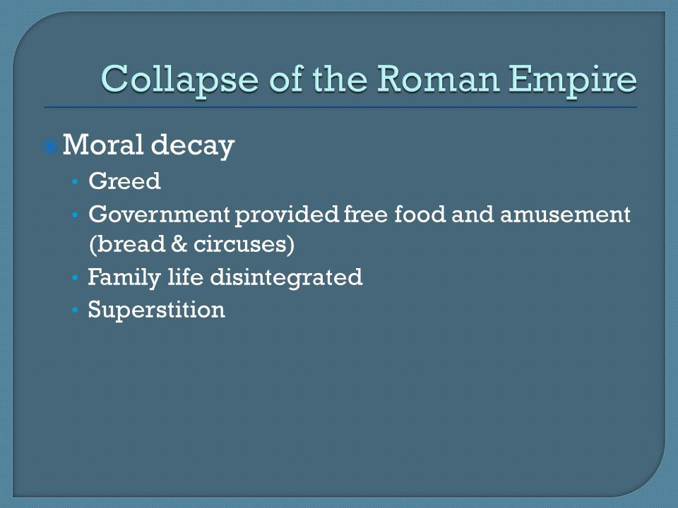 Collapse of the Roman Empire