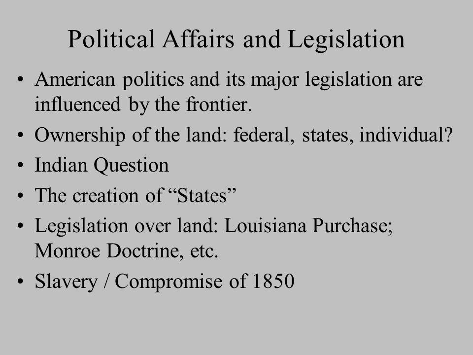 Political Affairs and Legislation