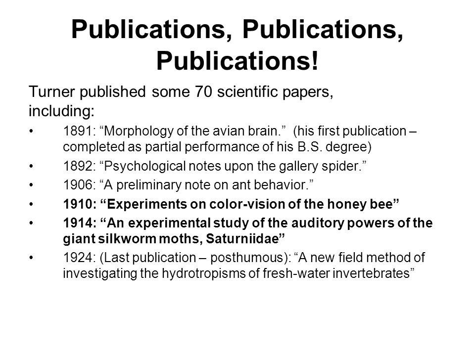 Publications, Publications, Publications!