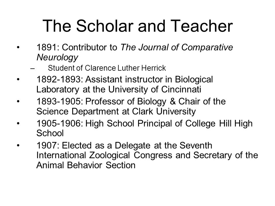 The Scholar and Teacher