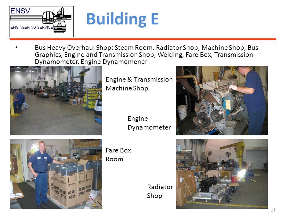 Building E ENSV. ENGINEERING SERVICES.