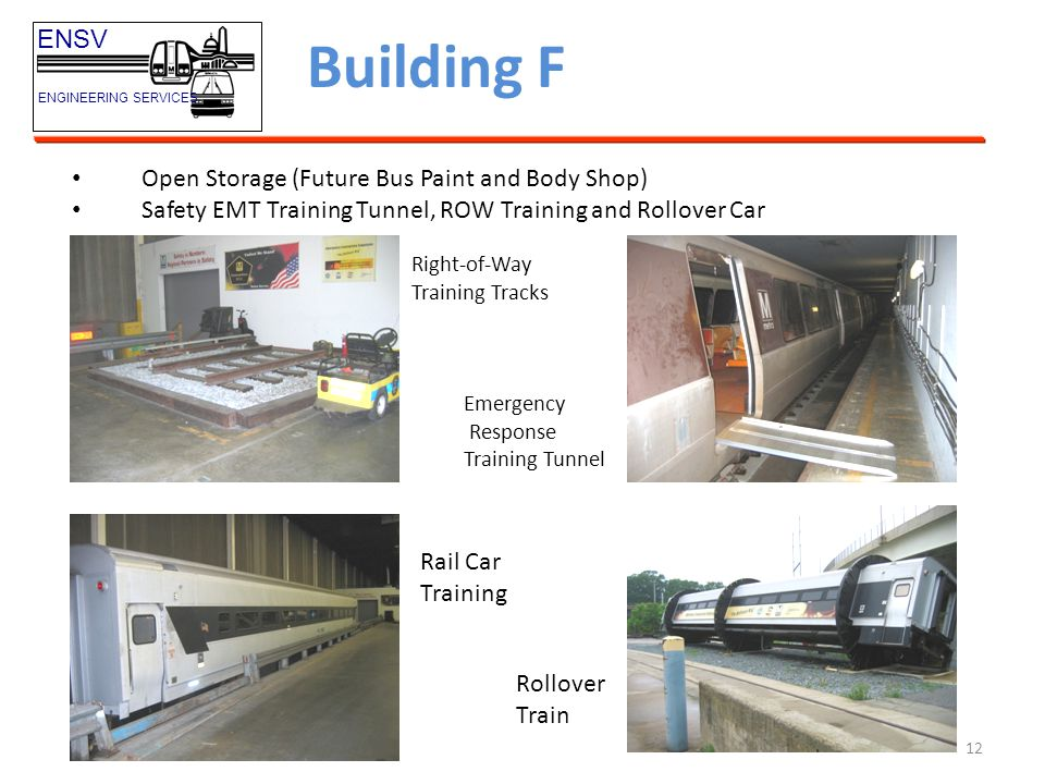 Building F ENSV Open Storage (Future Bus Paint and Body Shop)