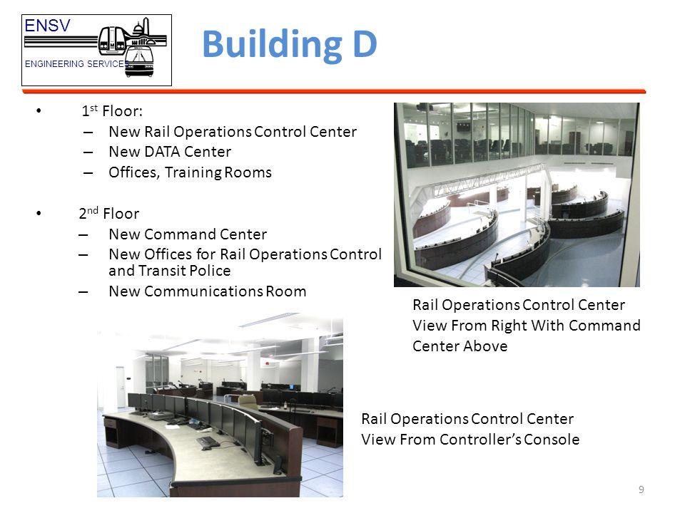 Building D ENSV 1st Floor: New Rail Operations Control Center