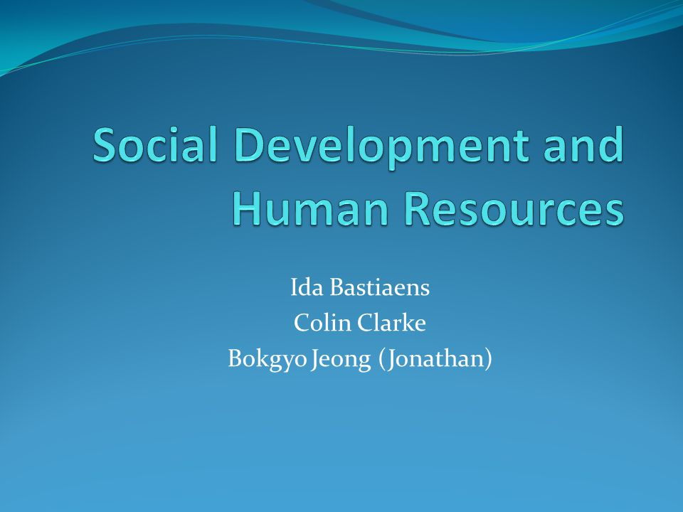 Social Development and Human Resources