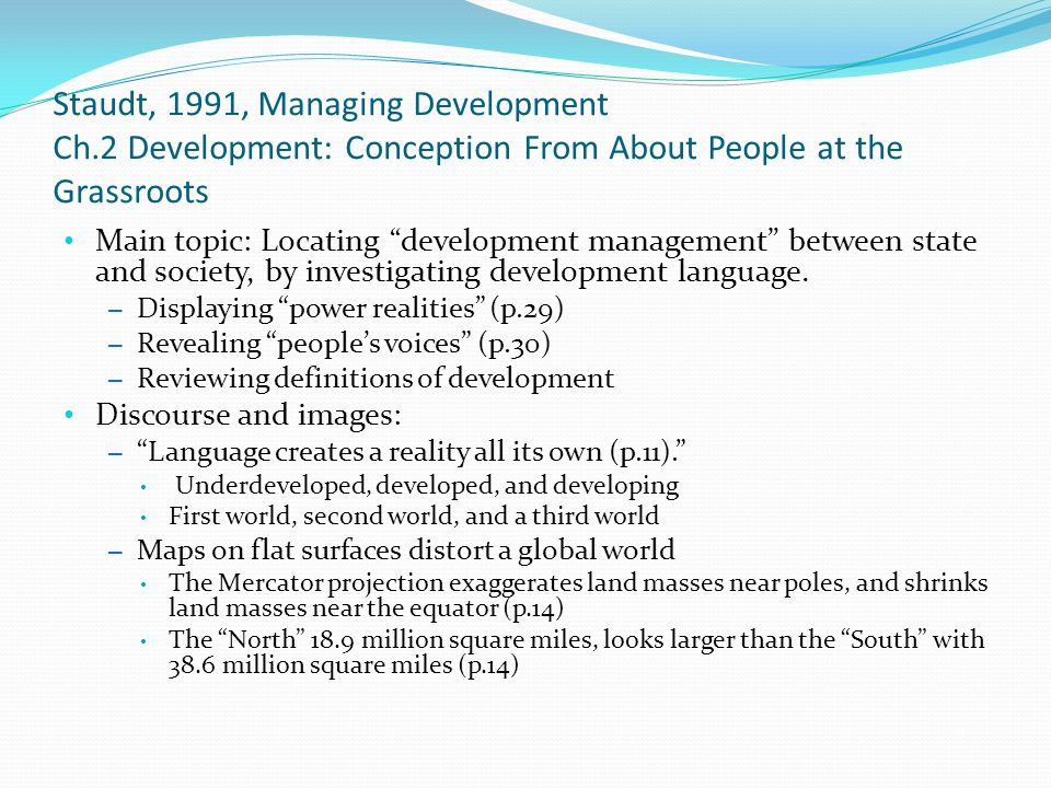 Staudt, 1991, Managing Development Ch