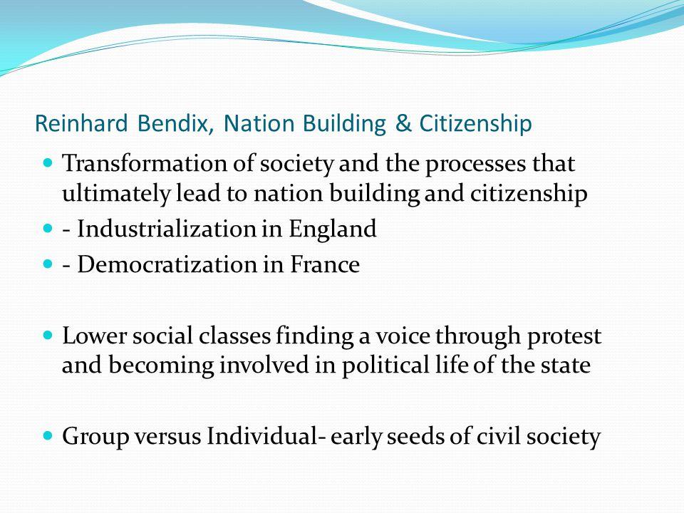 Reinhard Bendix, Nation Building & Citizenship