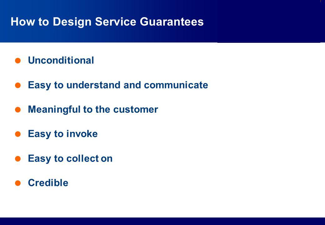 How to Design Service Guarantees