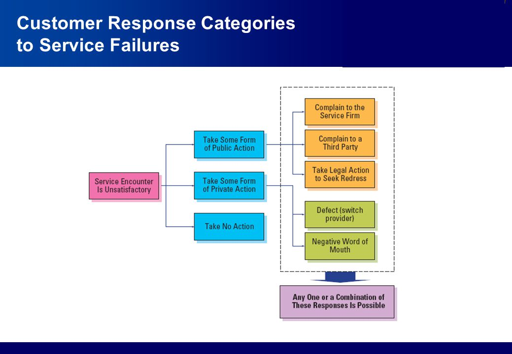 Customer Response Categories to Service Failures
