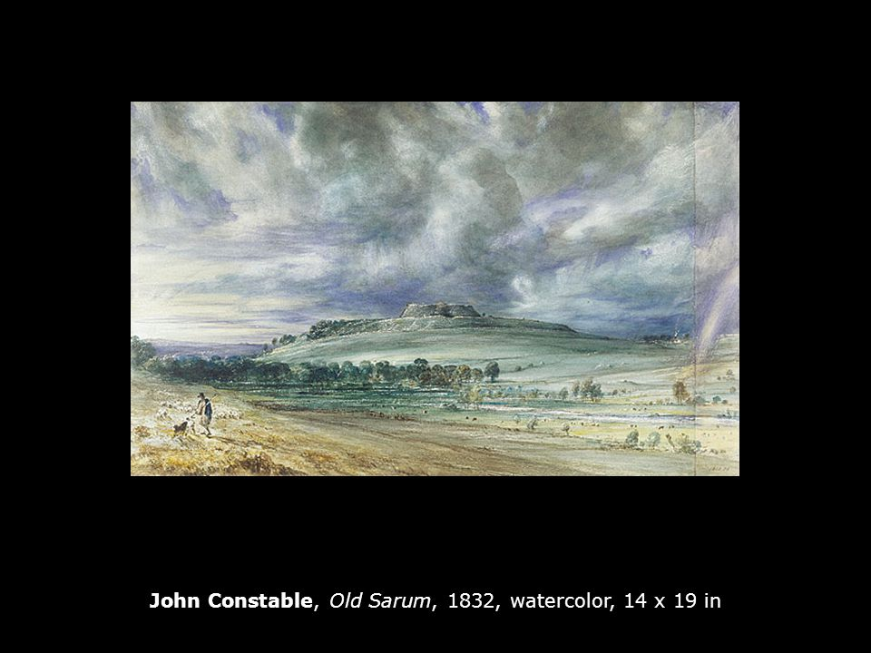 John Constable, Old Sarum, 1832, watercolor, 14 x 19 in