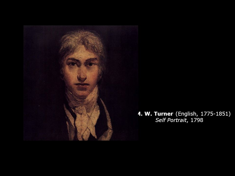 J. M. W. Turner (English, 1775-1851) Self Portrait, 1798
