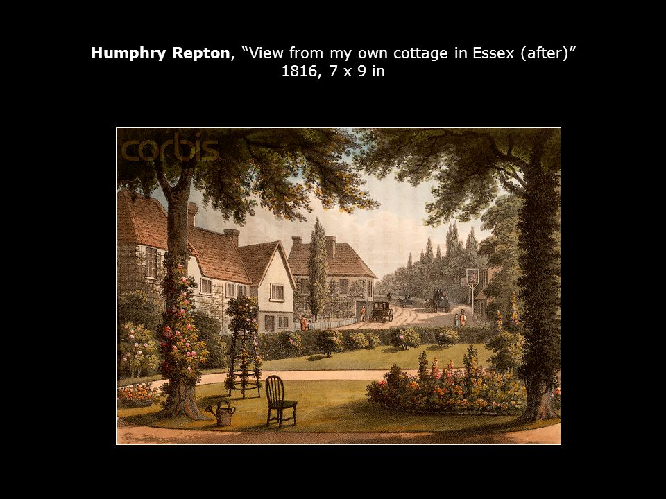 Humphry Repton, View from my own cottage in Essex (after) 1816, 7 x 9 in