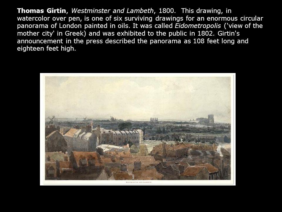 Thomas Girtin, Westminster and Lambeth, 1800