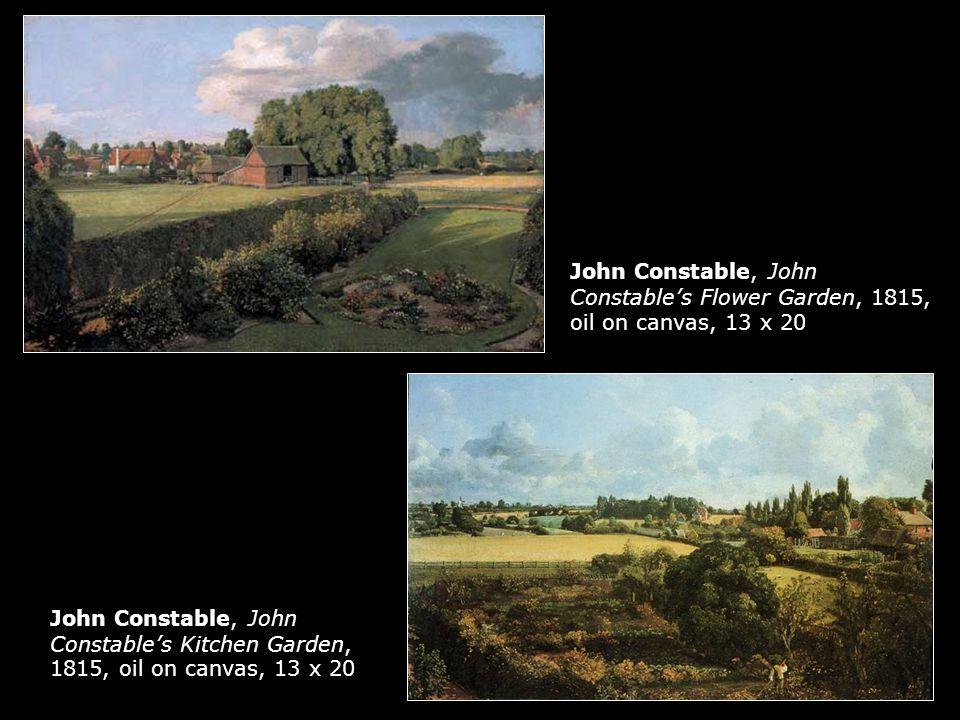 John Constable, John Constable's Flower Garden, 1815, oil on canvas, 13 x 20