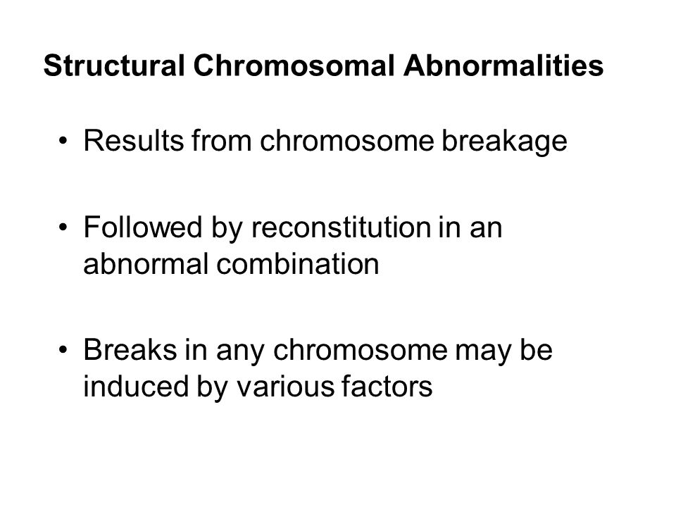 Structural Chromosomal Abnormalities