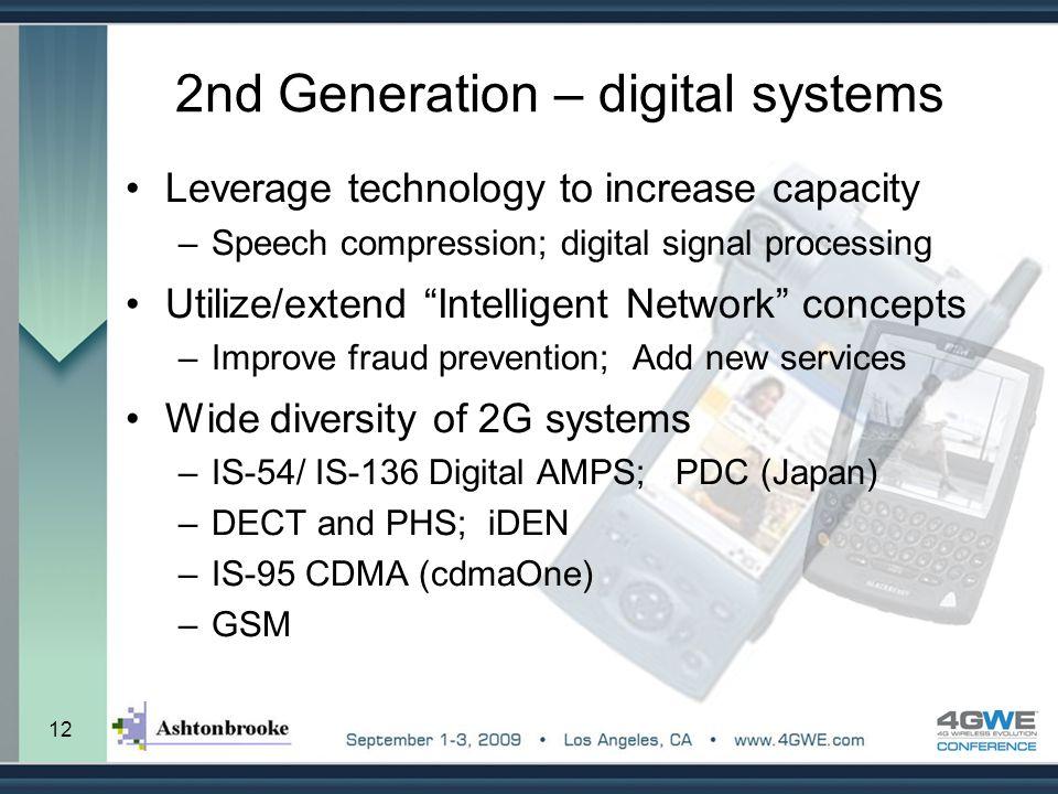2nd Generation – digital systems