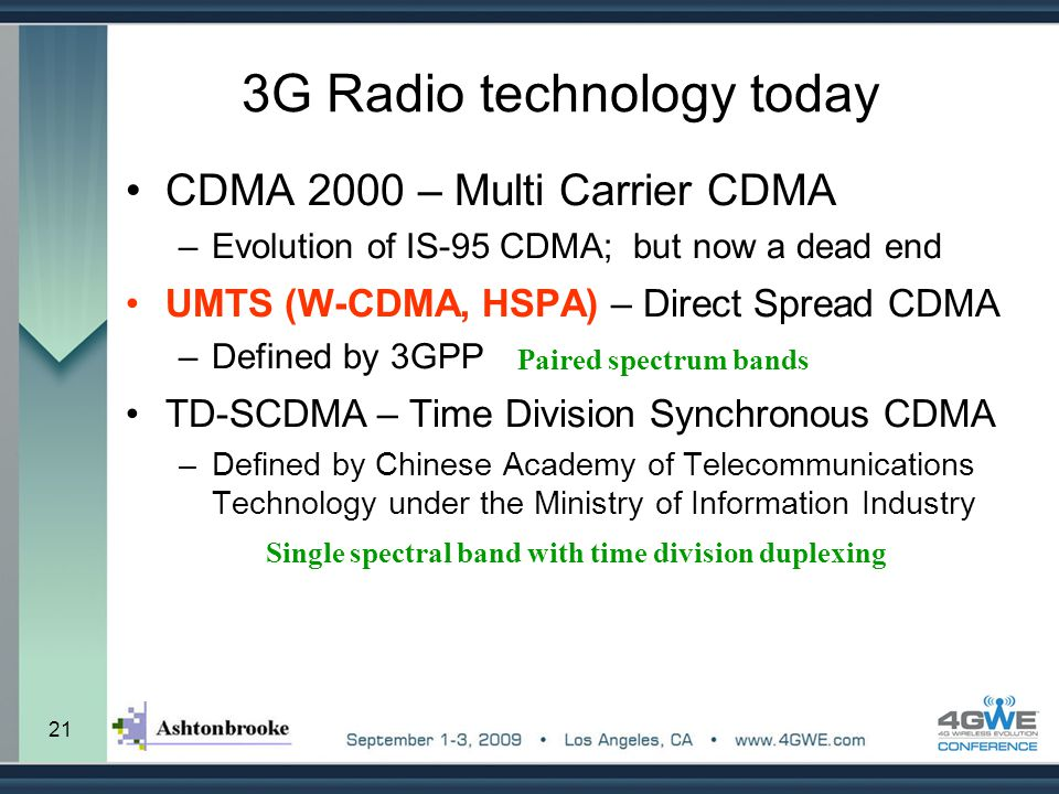 3G Radio technology today