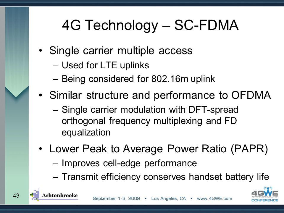 4G Technology – SC-FDMA Single carrier multiple access