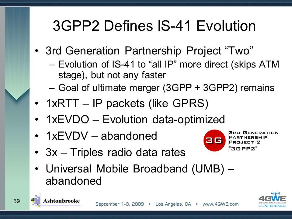 3GPP2 Defines IS-41 Evolution