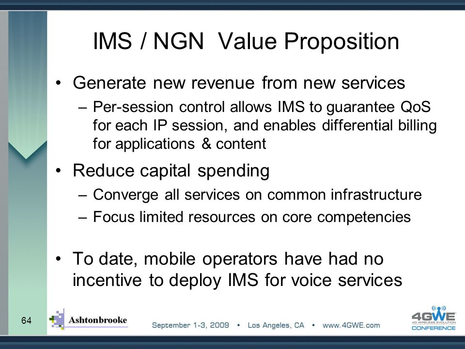 IMS / NGN Value Proposition