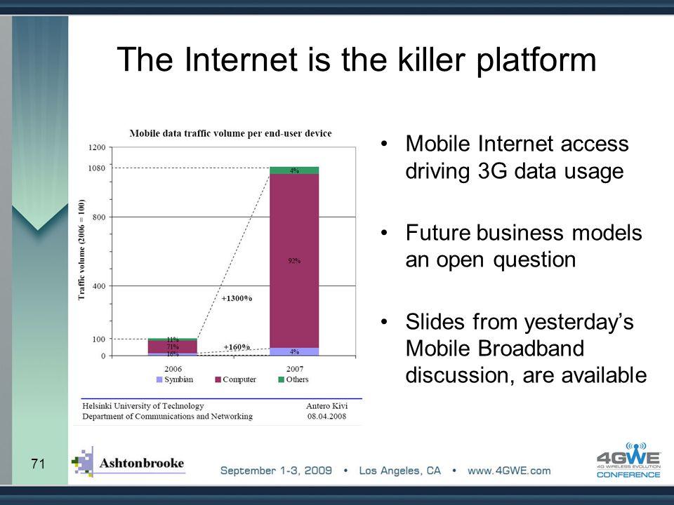 The Internet is the killer platform