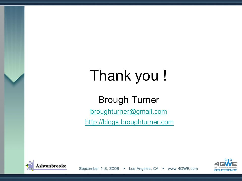 Brough Turner broughturner@gmail.com http://blogs.broughturner.com