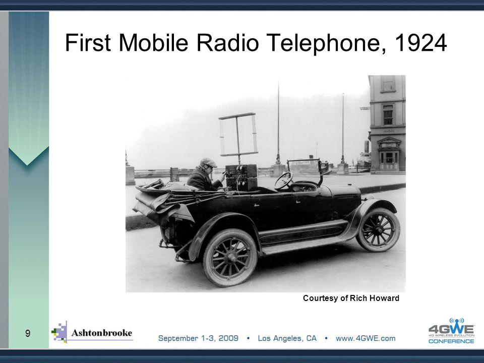 First Mobile Radio Telephone, 1924