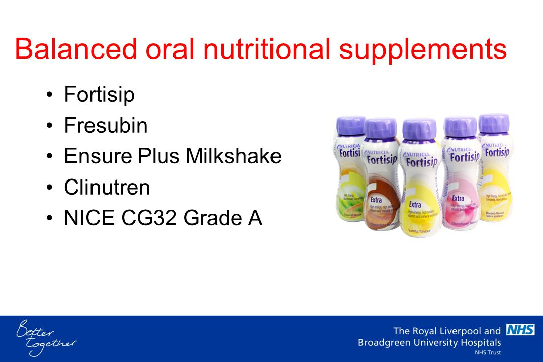 Balanced oral nutritional supplements