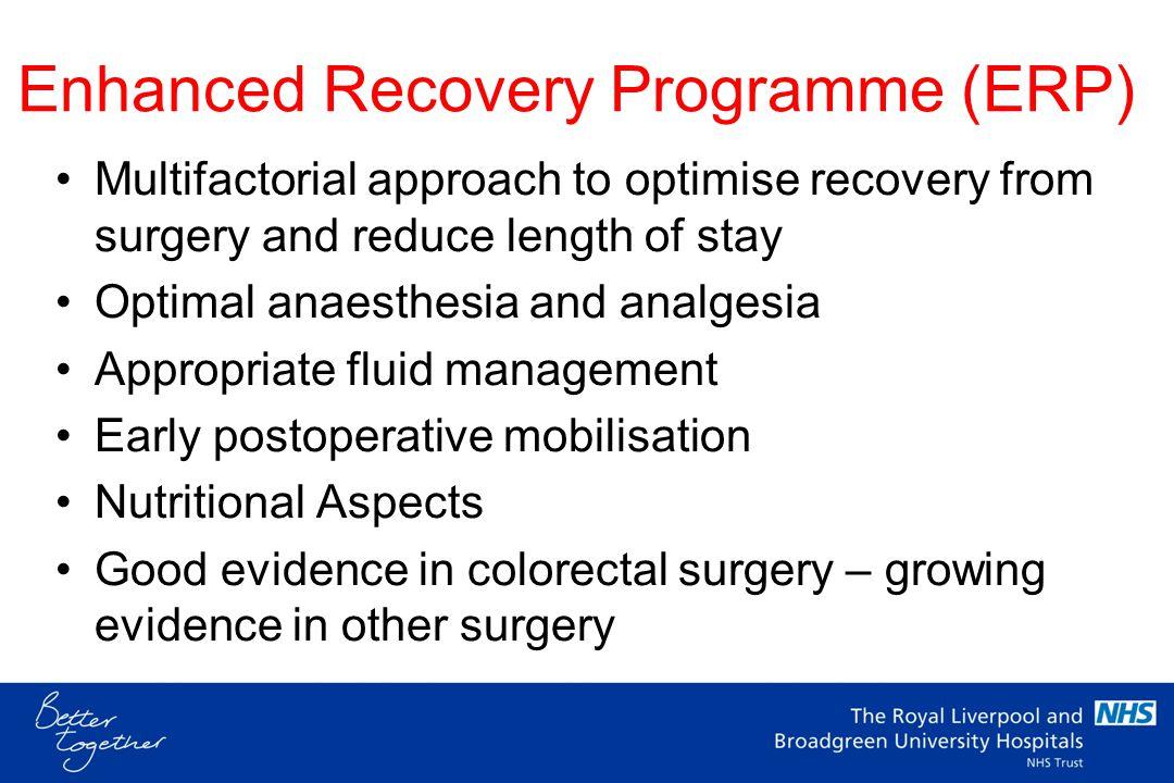 Enhanced Recovery Programme (ERP)