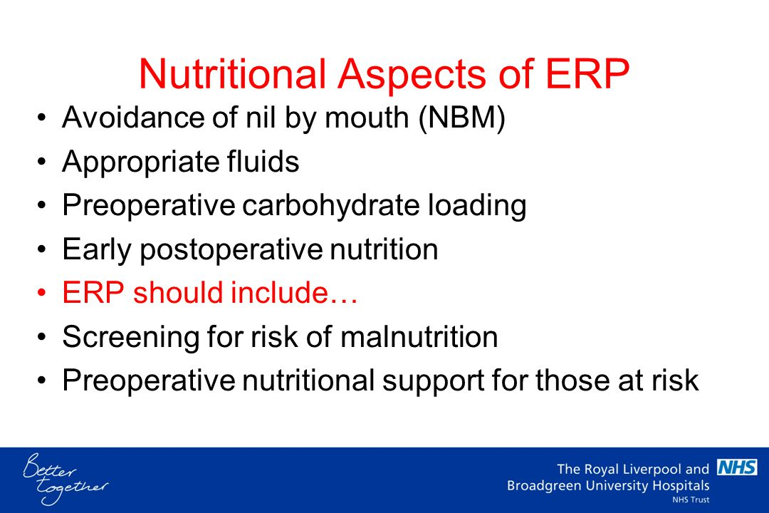 Nutritional Aspects of ERP