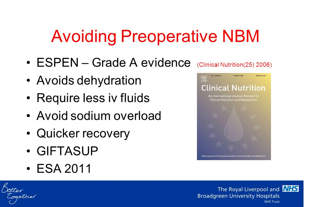 Avoiding Preoperative NBM