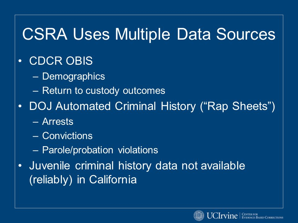 CSRA Uses Multiple Data Sources