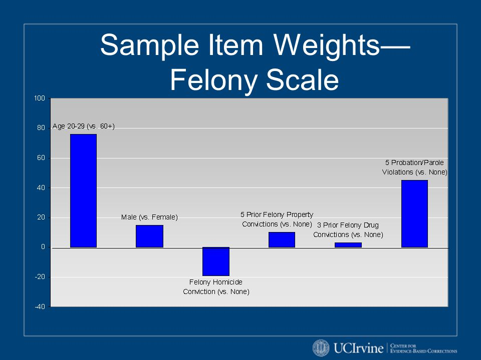 Sample Item Weights—Felony Scale