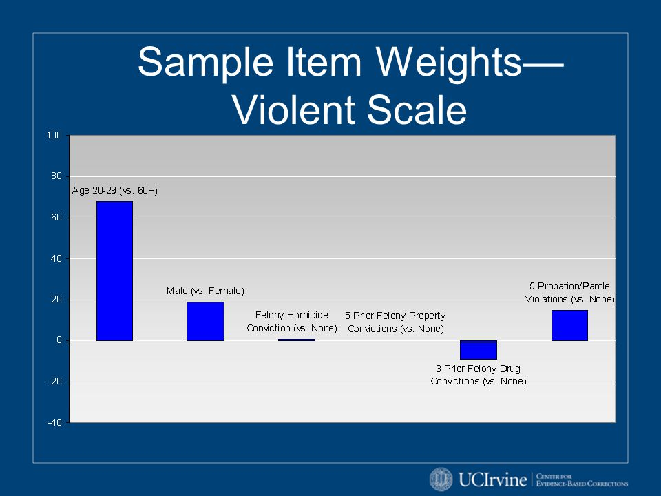 Sample Item Weights—Violent Scale