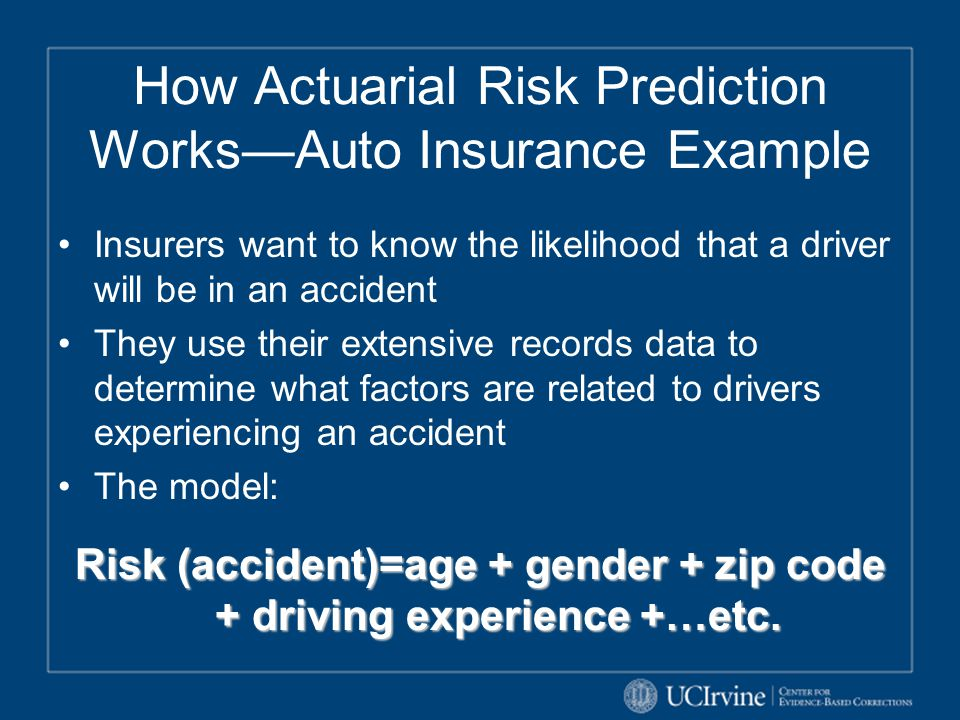 How Actuarial Risk Prediction Works—Auto Insurance Example
