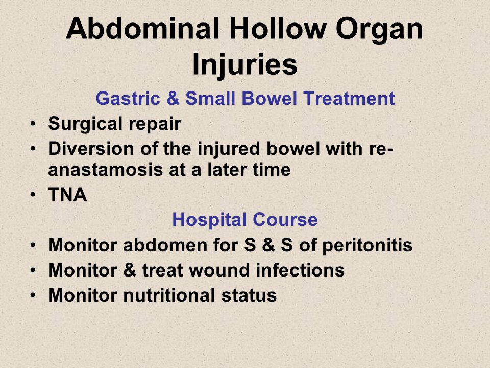 Abdominal Hollow Organ Injuries