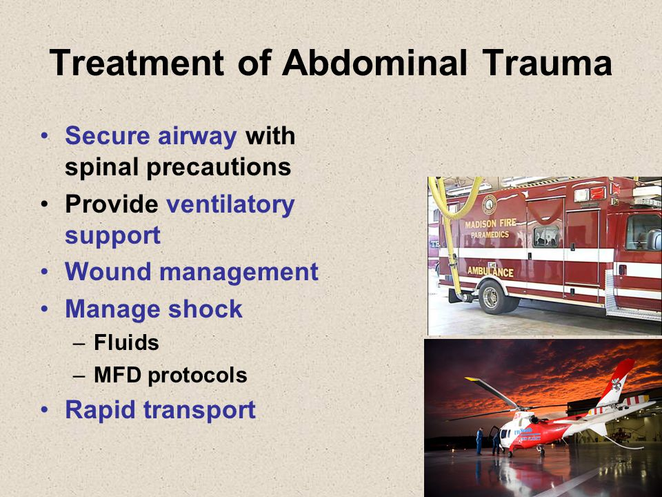 Treatment of Abdominal Trauma