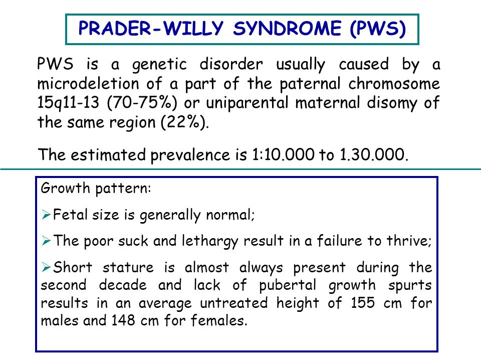 PRADER-WILLY SYNDROME (PWS)