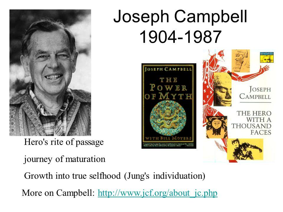 Joseph Campbell 1904-1987 Hero s rite of passage journey of maturation