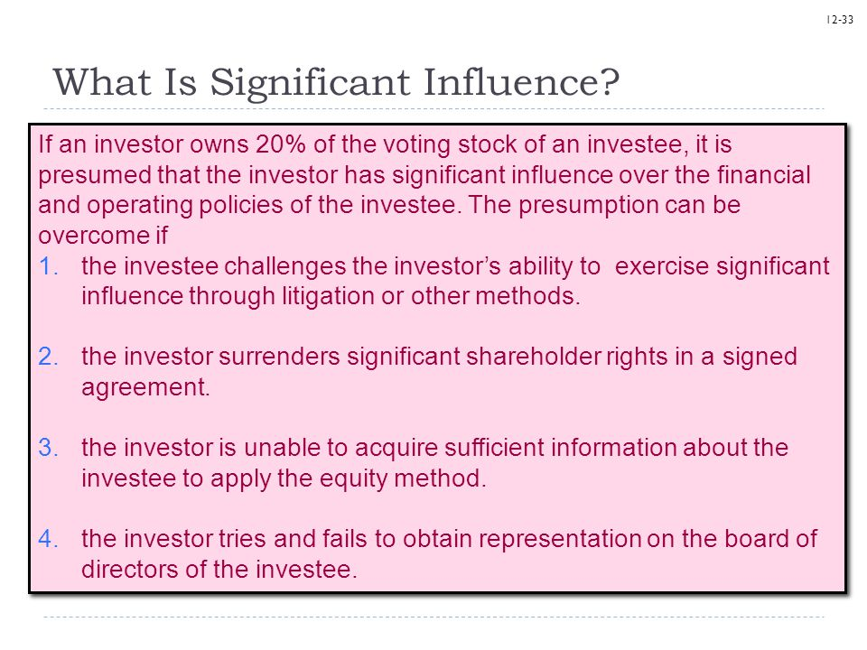 What Is Significant Influence