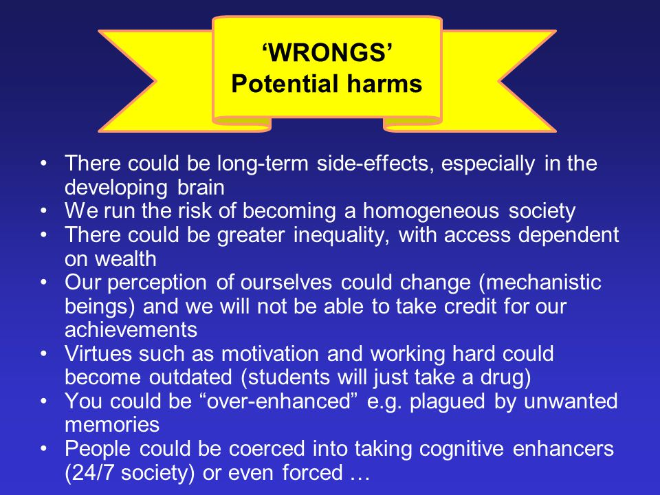 'WRONGS' Potential harms